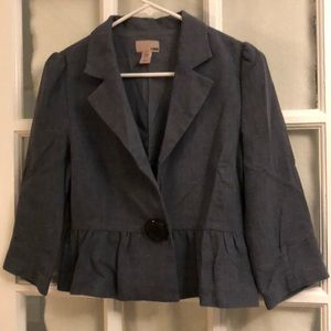 H&M Peplum Single-Button Blazer - Size 6
